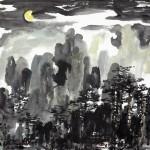 阿里山之夜 (96x96cm)