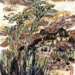 秋色池塘 (48x60cm)