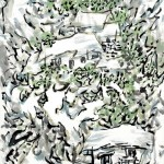Home in the Green Trees (68x136cm)