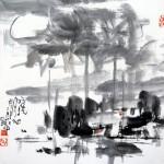 雨洗月色 (68x68cm)