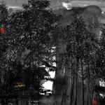 夜讀 (68x68cm)