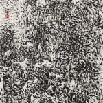 煙波湖上 (68x136cm)
