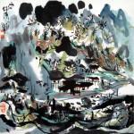 山河錦繡 (68x68cm)
