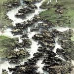 嘉陵江最後的河灘 (108x200cm)