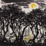 The Mangroves at Night (68x68cm)